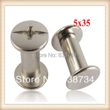 Steel with zinc plated 5*35mm book screw