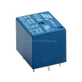 5 Adet Mini 3 V DC SONGLE Güç Rölesi SRD-3VDC-SL-C PCB Tipi