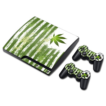 Cilt PS3 Ince Koruyucu Mat Kullanımlık Vinil Decal Sticker playstation 3 slim Konsol + weeds TN-P3Slim-1218